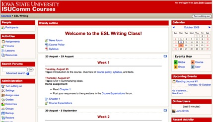 Using Moodle in ESOL Writing Classes
